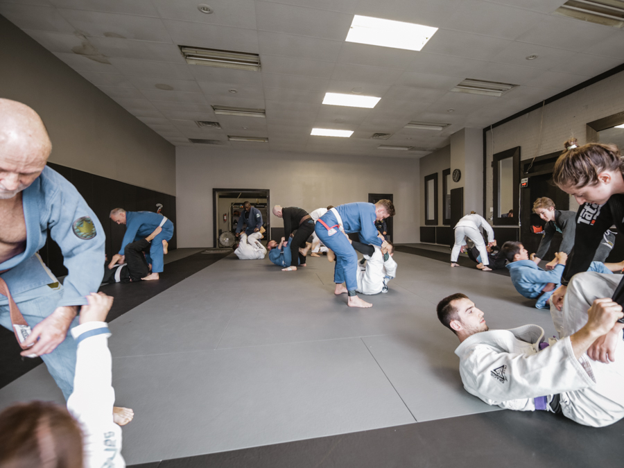 Students training at Guardhouse BJJ Kitchener